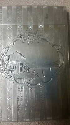 Antique calling card case from early 1900's.