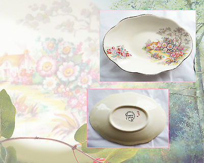 Vintage Royal Winton Grimwades Little Cottage Floral Pin Dish Made In England