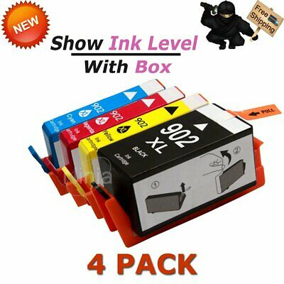 4PK High Yield 902XL Ink Cartridge For HP 902 OfficeJet Pro 6960 6968 6970 6978