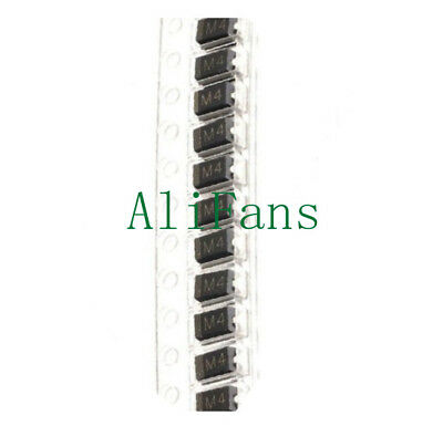 100 PCS LL4004 M4 1N4004 DO-214 SMD 1A 400V Rectifier Diodes