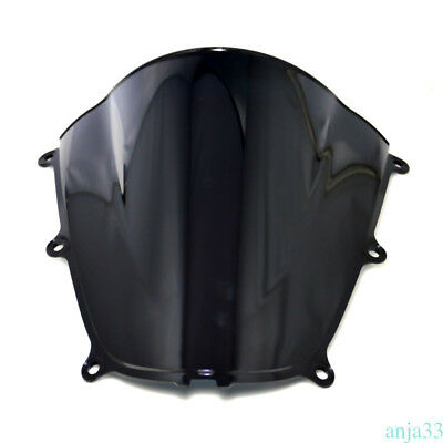Heat Cold Resistant Black Windscreen Windshield For HONDA CBR600RR 05-06-Quality