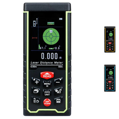 Upgraded Rechargeable Handheld Laser Distance Meter with Large LCD Backligh D6M7