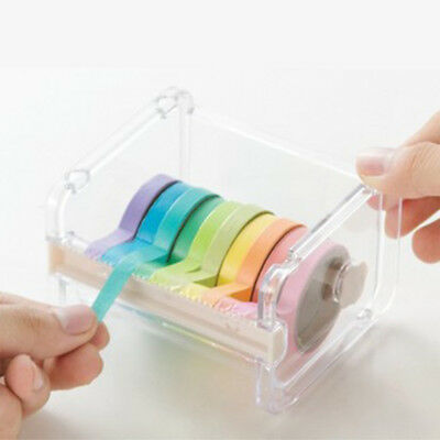 US Adhesive Tape Dispenser Office Desktop Scotch Tape Holder and Tape Cutter Hot