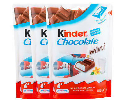 3 x Kinder Chocolate Mini 108g