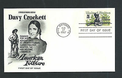 USA 1967 - FDC /Ersttagsbrief - Davy Crockett