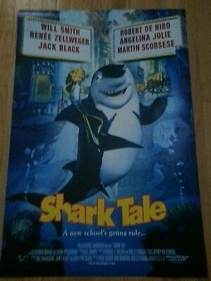 Shark Tale Original Double-Sided One Sheet Rolled Movie Poster 27x40 Animation