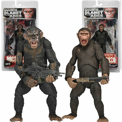 NECA War Of The Planet Of The Apes Wounded Koba Caesar Action Figure Toy UK