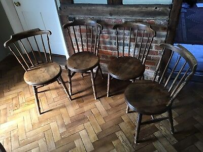 Four vintage 'penny' chairs
