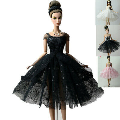 4 * Fashion Lace Ballet Skirts Evening Dress Outfit Gown For 11.5in.Doll