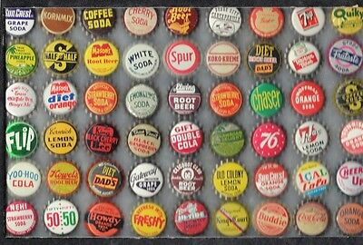 54  Diff.  Soda  Bottle Caps  Cork Unused  You Grt Thr Caps Only # 3