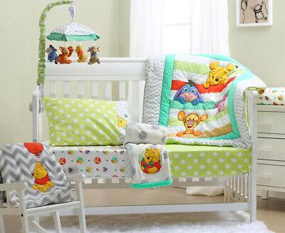 Disney Baby Pooh A Is For Apple 5-Piece Cot Set - Multi