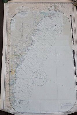 Vintage map Montagu to Jarvis Bay QLD Original 1956 Maritime QLD East coast