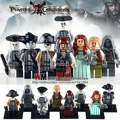 8 Pirates Of The Caribbean Mini Figures Salazars Revenge Jack Sparrow fit lego