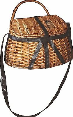 Antique Style Fisherman's Creel Basket