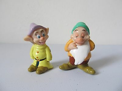 Disney Snow White Dopey And Bashful Figures