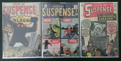 Pre-Hero Tales of Suspense Lot of 3! # 21, 28 and 35 (1961-1962, Marvel)