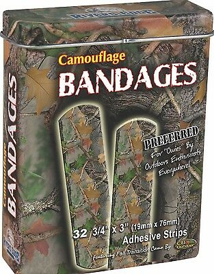 Camouflage Plasters in Collectable Tin Green or Rose Pink