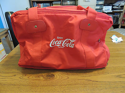 Red Coca Cola large duffle bag with three pockets NEW