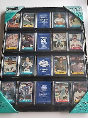 Collector's Sports Trading 20 Card Wall Case Display 16x20 inches