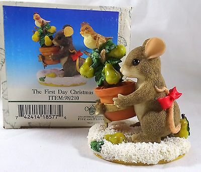 Charming Tails Figurine On the First Day of Christmas
