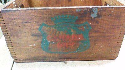 VINTAGE CANADA DRY WOOD BOX CRATE Worcester Mass