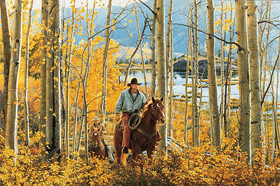 """""""Leaves Of Gold"""" Limited Edition Western Art Print by Tim Cox"""