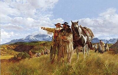 """""""Beyond The Ridge"""" Limited Edition Western Art Print by Paul Calle"""