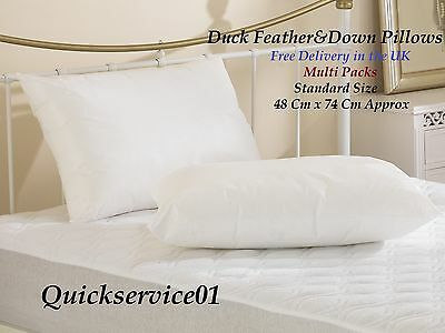 New **SPECIAL OFFER** Multi Pack Of DUCK FEATHER & DOWN Hotel Quality pillows