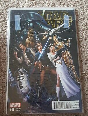 Star Wars #1 J Scott Campbell Connecting Variant  Nm