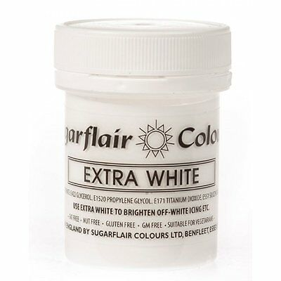 Sugarflair Colours Extra White 50g FOR CAKES/ICING