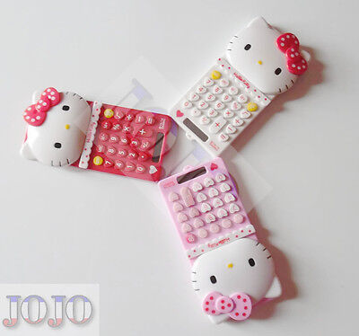 Cute New Red Pink Hello Kitty Calculator School Girl's Gift Toy Stationery