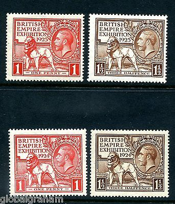 1924/5 KING GEORGE 5th WEMBLEY EXHIBITION GREAT BRITAIN 4v FINE MINT FREEPOST UK