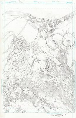 TEEN TITANS DC Comics New 52 Promotional Original Art BRETT BOOTH Pencils Only