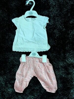Baby Girl Clothes 0-3 Months, Marks and Spencer's. Summer Outfit