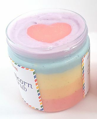 Fun Unicorn Mixed Sweets Scents Scrub Soap Rainbow Lush Natural Essential Oils