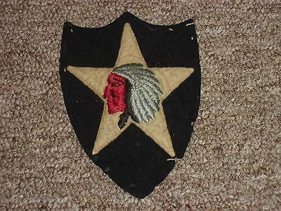 Rare Pre WW II US Army 2nd Infantry Division Wool Patch Off Uniform