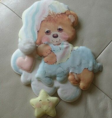 Teddy Beddy Bear Nursery Decor Puffy Cloth Wall Hanging Fisher Price Riegel 1984