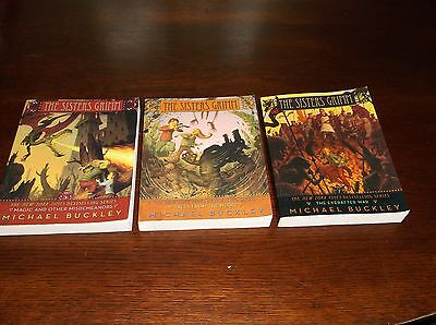 Set Of 3 The Sisters Grimm Books 5 6 7 By Michael Buckley PB Very Good Condition