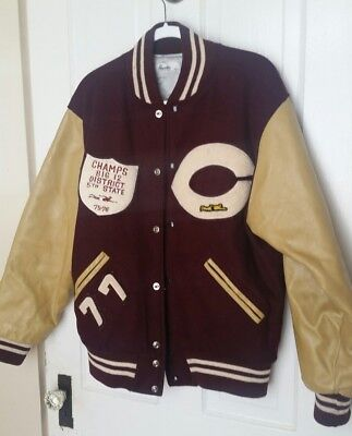 Genuine Vintage 1970s Letterman Jacket Champaign IL Central High School Men's