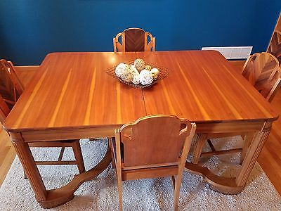 Beautiful hand-made antique table, chairs and  hutch! Excellent condition