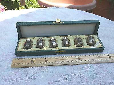 Shirata & Co.vintage Sterling Silver Miniature Salt& Pepper Shakers Set Of Six