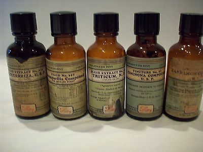 Eli Lilly Grouping Mid-Twentieth Century Pharmacy Bottles. Free shipping.