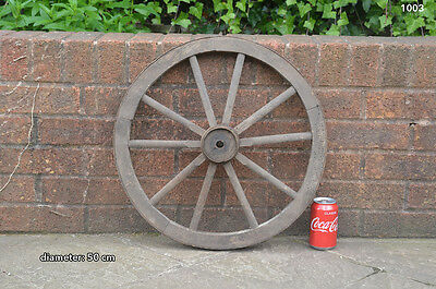 Vintage old wooden cart wagon wheel  / 50 cm - FREE DELIVERY