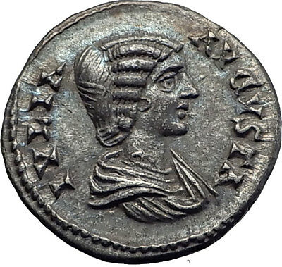 JULIA DOMNA 196AD Ancient Authentic Silver Roman Coin CONCORDIA Harmonia i63331