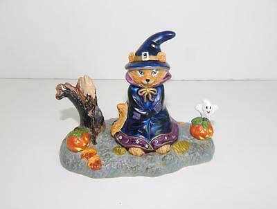 Partylite Abracadandle Candle Snuffer Base Halloween Witch Cat ~ MINT in Box!