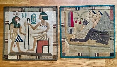 Two Egyptian Revival Appliqué Textiles, early 20th Century