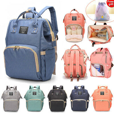 Luxury Multifunctional Baby Diaper Nappy Backpack Waterproof Mummy Changing Bag
