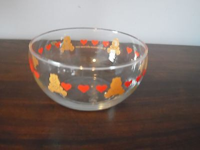 1984 American Greetings Care Bear Small Glass Bowl