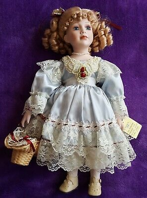 LTD Ed. LOVELY HUGE PORCELAIN DOLL - CARMEL - 252/2500