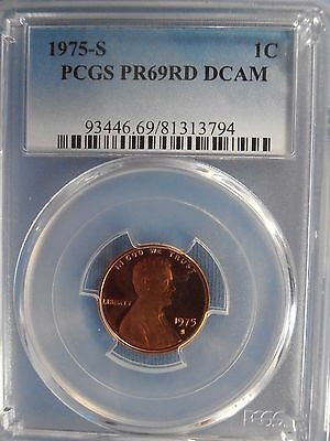 1975 S Pcgs Pf69Rd Dcam Lincoln Cent Proof